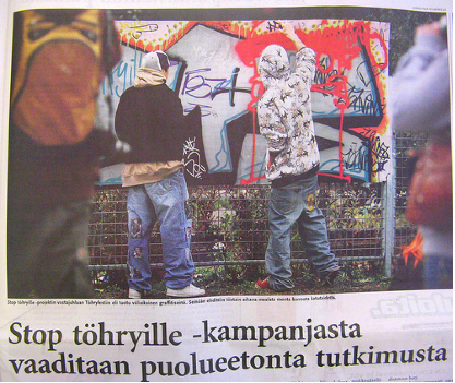 Article in Helsingin Sanomat 22.9.2008 (main newspaper)